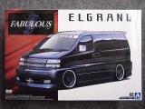 アオシマ 1/24 ザ チューンドカーシリーズ No.43 ファブレス APE50 エルグランド'00