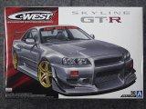 アオシマ 1/24 ザ チューンドカーシリーズ No.50 C-WEST BNR34 スカイライン GT-R'02(ニッサン)