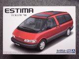 アオシマ 1/24 ザ モデルカーシリーズ No.115 トヨタ TCR11W エスティマ ツインムーンルーフ'90