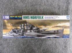 画像1: アオシマ 1/700 WLシリーズ No.809 英国海軍 重巡洋艦ノーフォーク