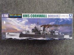 画像1: アオシマ 1/700 WLシリーズ No.810 英国海軍 重巡洋艦 コーンウォール