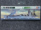 タミヤ 1/700 WLシリーズ No.502 イギリス海軍 戦艦 ロドネイ